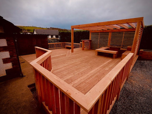 Larch decking
