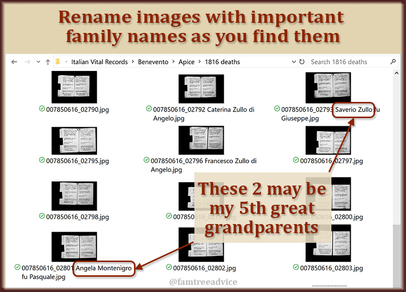 You'll never wonder where you saw that one file if you rename it and make it searchable.