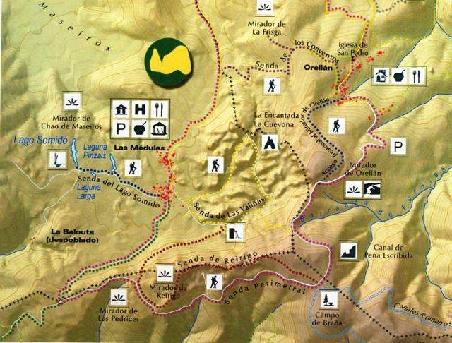 Rutas de Las Médulas. Imagen de la Fundación del Patrimonio Natural de Castilla