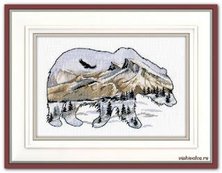 """Скачать схему вышивки 1052 """"Мир животных. Медведь"""""""