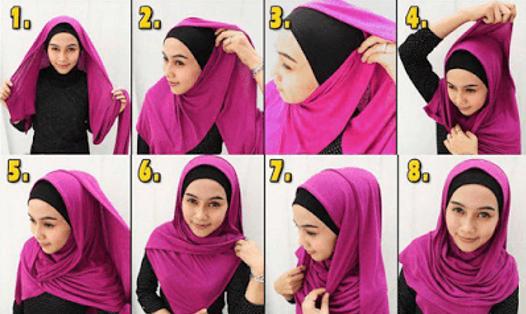 Tutorial hijab pashmina sifon Untuk Kuliah