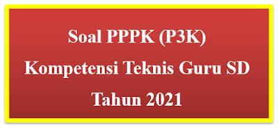Contoh 25 Soal PPPK (P3K) Kompetensi Teknis Guru SD