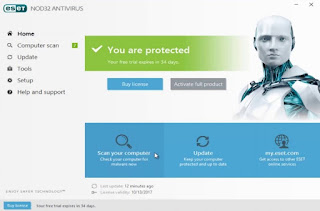 Aset Nod32 adalah salah satu antiviru yang terbaik dan keamanan yang diberikannya sangat handal