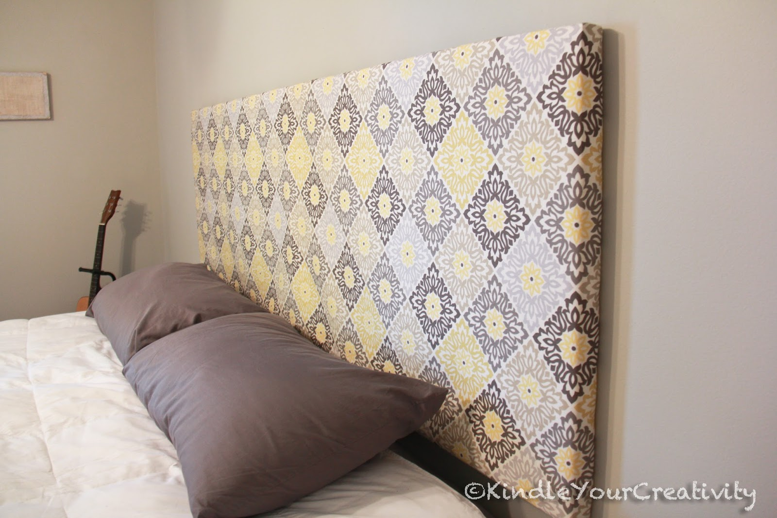 Headboards Fabric Padded Hung Pattern Bedroom Bed DIY