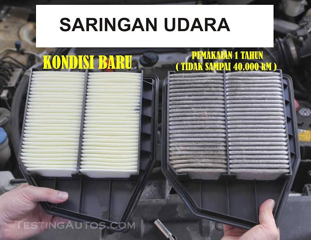 saringan udara yang sudah dipakai selama 1 tahun