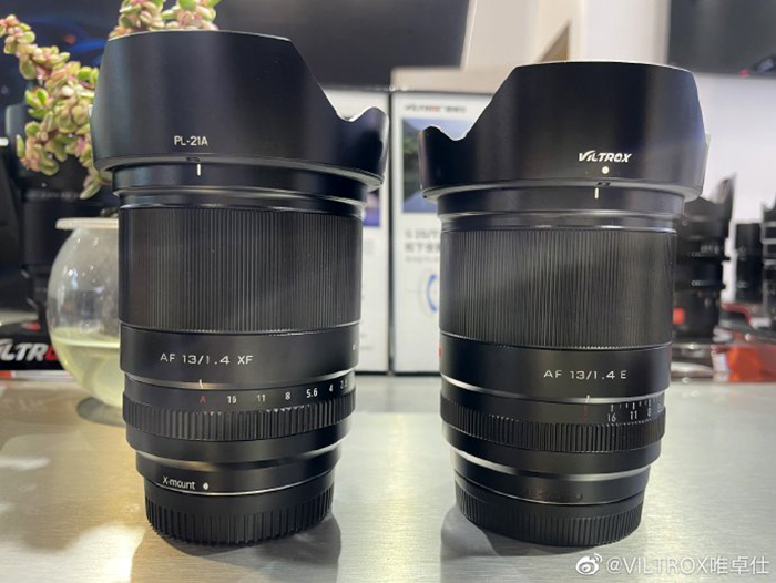 Две версии объектива Viltrox 13mm f/1.4 для Sony E и Fujifilm X