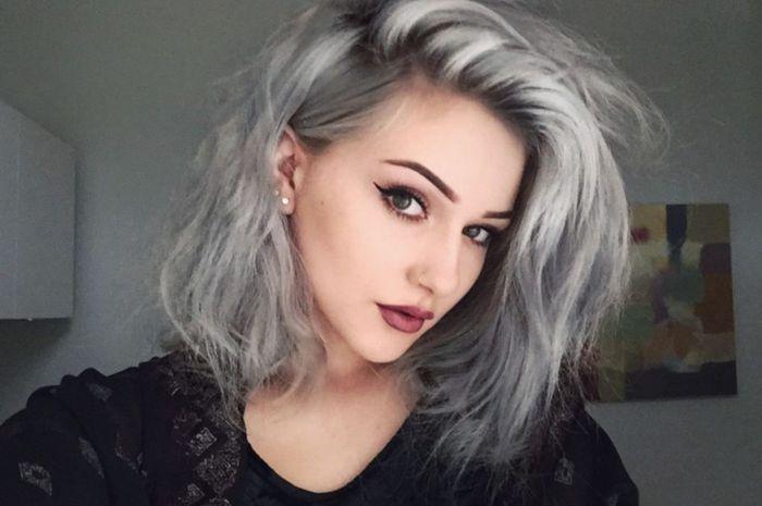 warna rambut abu abu