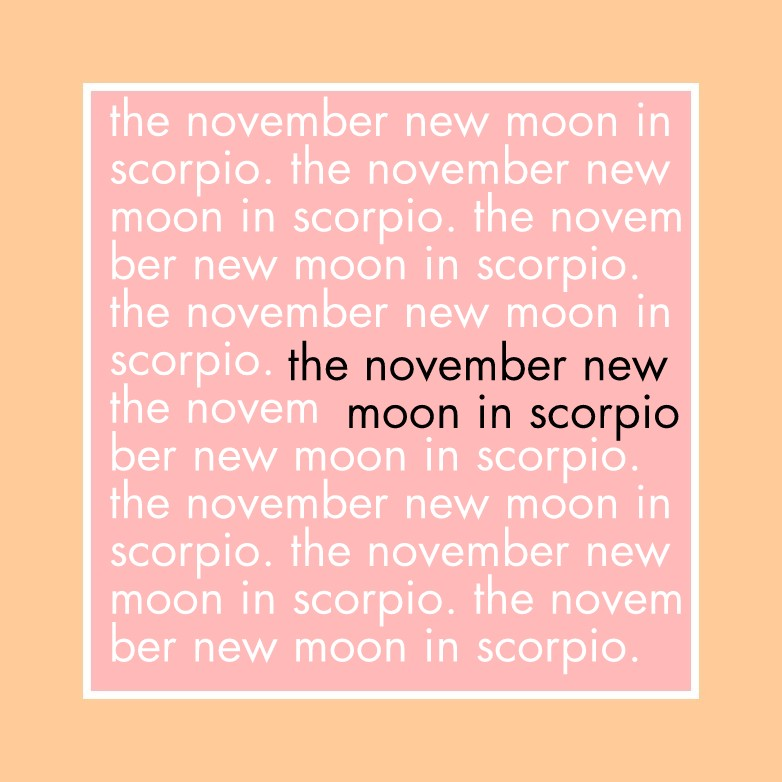 The November New Moon