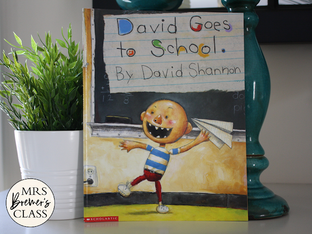 David Goes to School book study literacy unit with Common Core aligned companion activities and craftivity K-1
