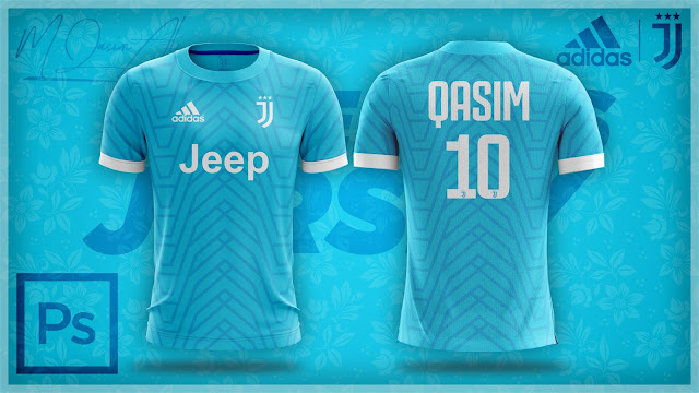 Adidas's Juventus Awesome Concept Jersey Design in Photoshop cc 2019 by M Qasim Ali