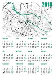 Kalendarz 2018 plan miasta Wrocław