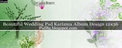 Beautiful Wedding Psd Karizma Album Design Free Download