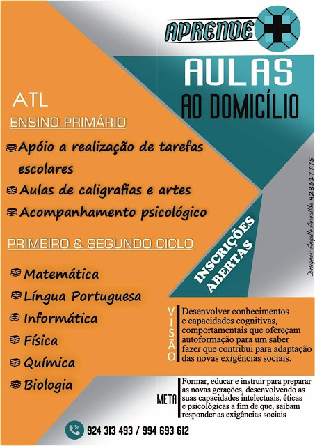 APRENDE + AULAS AO DOMICÍLIO ATL