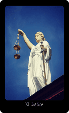 Justice tarot card image