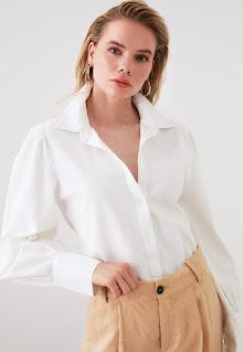 Trendyol - Дамски Риза с буфан ръкави
