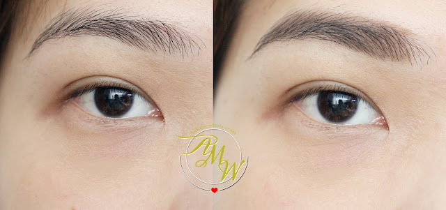 before and after photo of Cathy Doll Triple Eyebrow Designing in 02 Natural Brown
