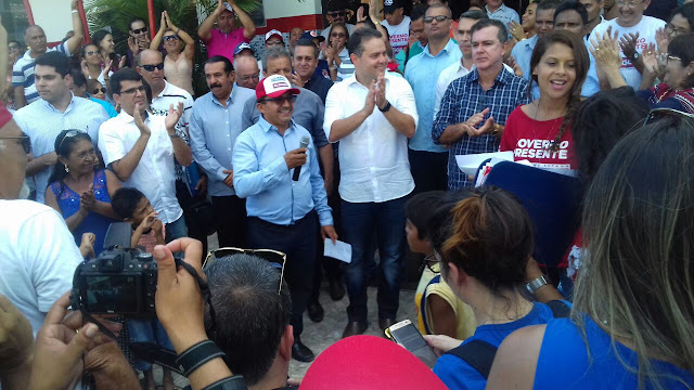 Prefeito de Olho D'Água do Casado, Zé da Emater, destaca as ações que o município recebeu durante a vinda do governador Renan Filho