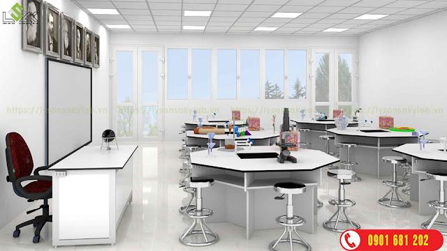 Bàn thí nghiệm hóa sinh, bàn thí nghiệm, ban thi nghiem