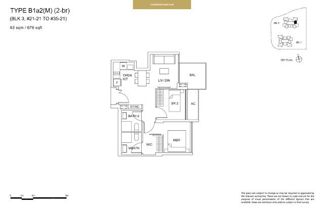 Sky Vue Type B1a1 (M) Floor Plan