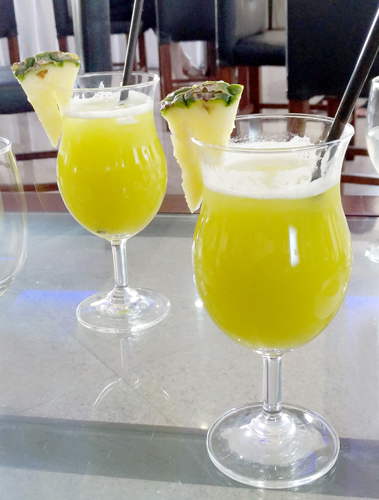 Fresh Pineapple Juice with Moringa, Cafe Frances at The Pinnacle Hotel