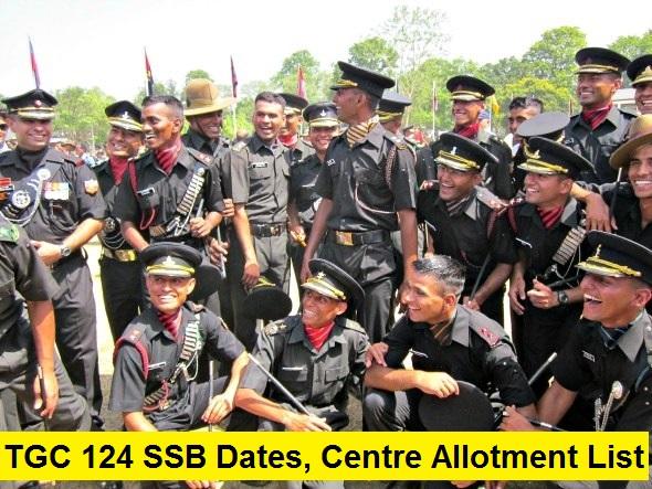 TGC 124 SSB Dates, Centre Allotment List
