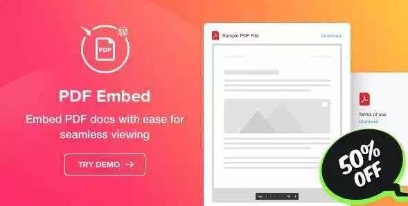 Free PDF Embed - WordPress PDF Viewer plugin
