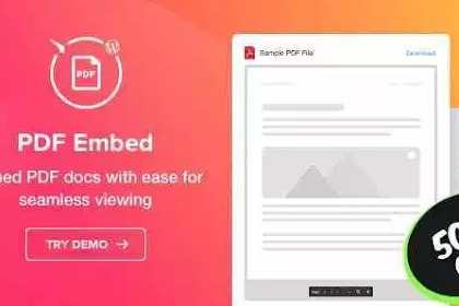PDF Embed v1.0.0 – WordPress PDF Viewer plugin