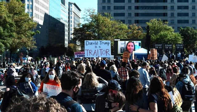 Protestas feministas con Trump en EEUU