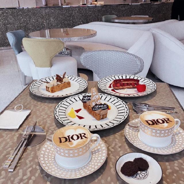 Menu Cafe Dior được xây dựng bởi đầu bếp nổi tiếng người Pháp
