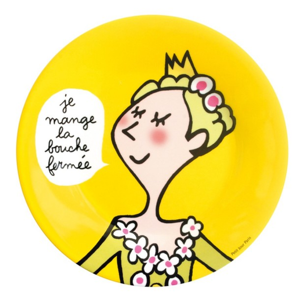 assiette jaune princesse