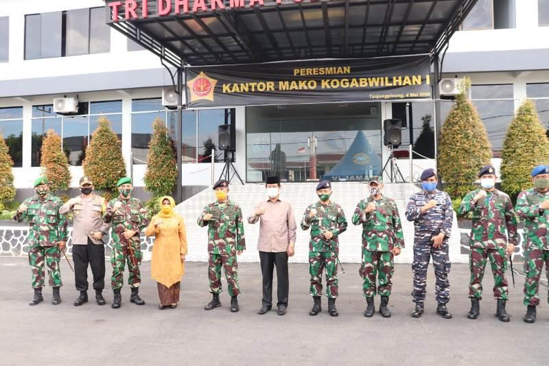 Danrem 033/WP dan Dandim 0315/Bintan Hadiri Peresmian Makogabwilhan I di Kota Tanjungpinang