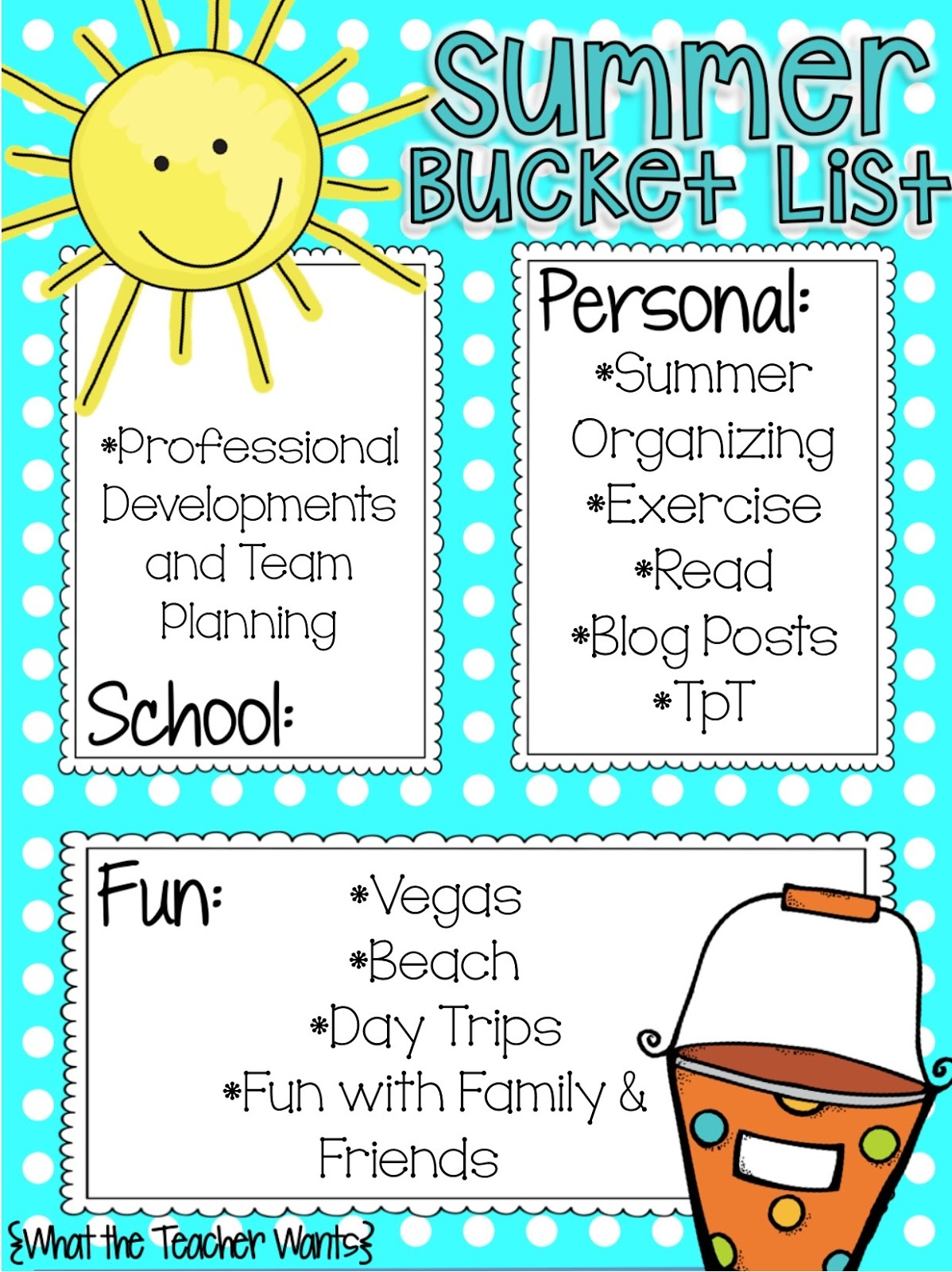 Summer Bucket List - Recipe for Teaching