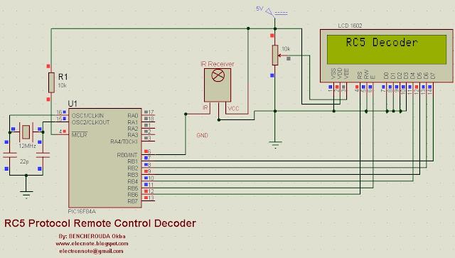 rc5 ir remote control protocol decoder pic microcontroller mikroc code