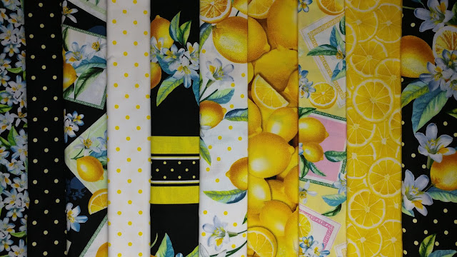 Lemon Fresh fabrics by Benartex