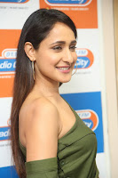 Pragya Jaiswal in a single Sleeves Off Shoulder Green Top Black Leggings promoting JJN Movie at Radio City 10.08.2017 143.JPG