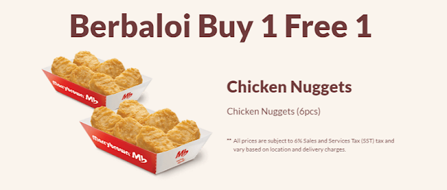 Berbaloi Puasa Buy 1 Free 1 Chicken Nugets