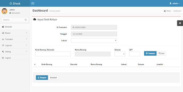 Sistem Informasi Inventory dengan Framework CodeIgniter