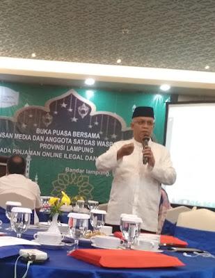 OJK Lampung Minta Masyarakat Waspadai Pinjaman Online dan Investasi Ilegal