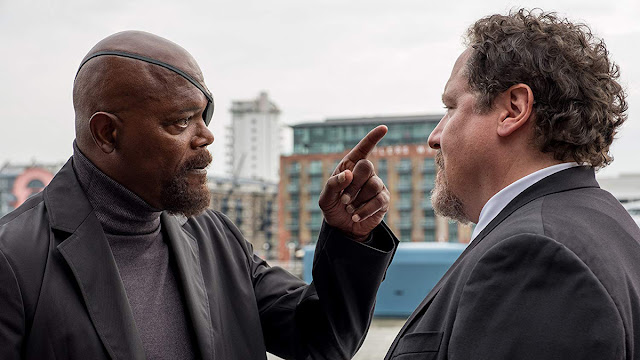 nick fury argues with happy hogan