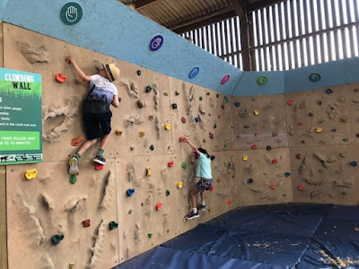 Tapnell Farm Park indoor climbing wall