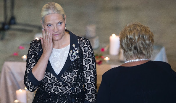 Crown Princess Mette-Marit of Norway attended a memorial service for the victims of the 2011 terrorist attacks at Oslo Cathedral