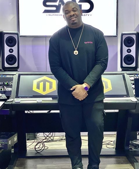 Don Jazzy in Marvin studio