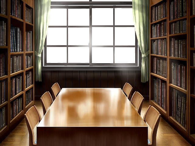 Library Reading Room (Anime Background)