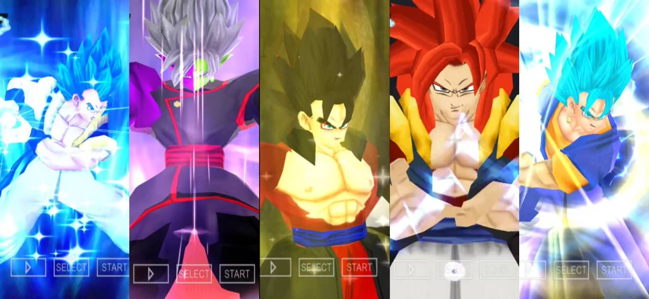 Dragon Ball Super all Fusions DBZ TTT MOD