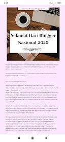 Setelah sebulan rutin ngeblog