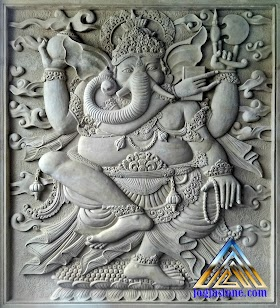 Relief ganesha untuk hiasan tempel di dinding