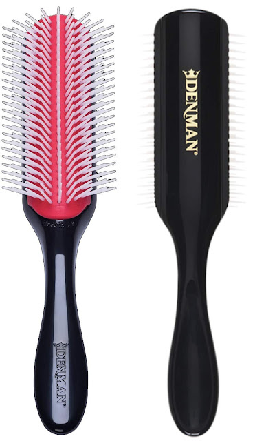 Curly Hair Denman 9 row D4 brush for the shower