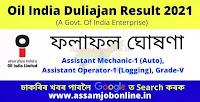 Oil India Duliajan Result