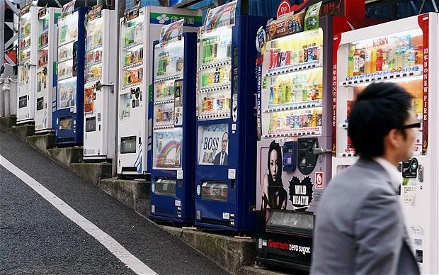 Văn hóa Nhật Bản hiện diện những cửa hàng tự bán