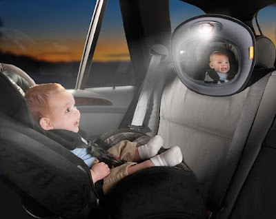 Useful Gadgets For The Helicopter Parent - Brica Day and Nightlight Musical Car Mirror